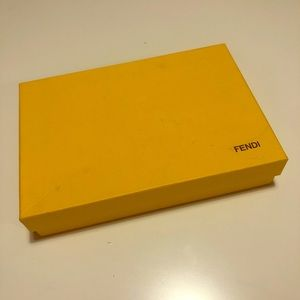 Yellow Fendi Box and insert cards